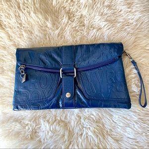 2/$20 Roxy blue faux leather clutch